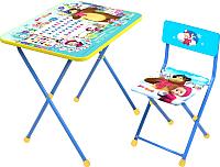 Комплект мебели с детским столом Ника КП2/2 Маша и Медведь. Азбука 2 -