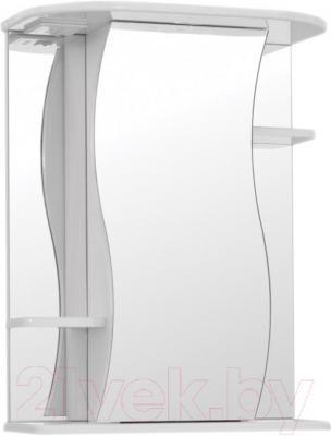 Шкаф с зеркалом для ванной Кветка Лилия ШЛ-550 (белый, левый)
