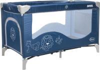 Кровать-манеж 4Baby Royal (синий) -