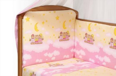 Комплект в кроватку Perina Аманда А4-02.3 (Ночка розовый) - расцветка
