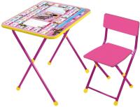 Комплект мебели с детским столом Ника КП2/3 Маша и Медведь. Азбука 3 (розовый) -