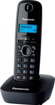 Беспроводной телефон Panasonic KX-TG1611 (черный) - общий вид
