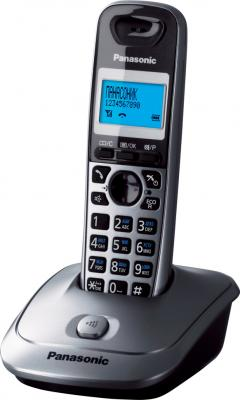 Беспроводной телефон Panasonic KX-TG2511 (серый металлик) - общий вид