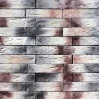 Декоративный камень Royal Legend Шамбор бежево-коричневый с серым 09-189 (200x50x04-07) -