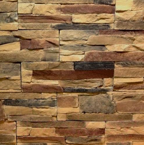 Купить Декоративный камень Royal Legend, Петра коричнево-черно-бежевый 02-689 (297x97x15-20), Беларусь, бетон