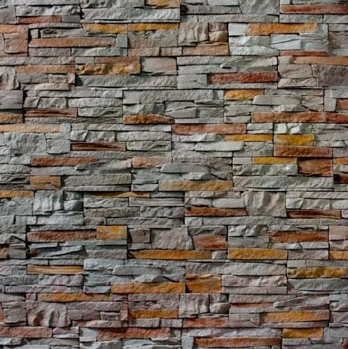 Купить Декоративный камень Royal Legend, Петра серый с древесным 02-471 (297x97x15-20), Беларусь, бетон
