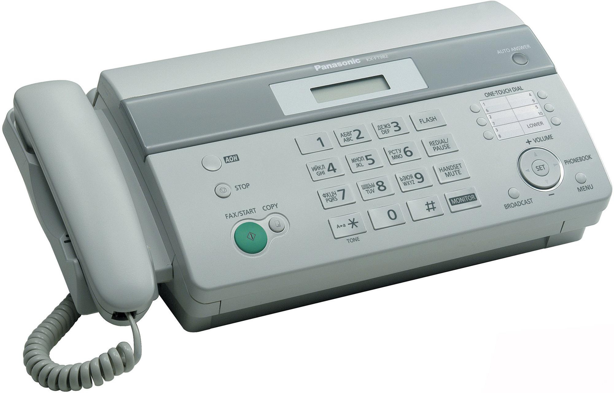 Купить Факс Panasonic, KX-FT982RU-W, Малайзия