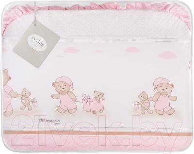 Комплект постельный в кроватку Perina Тиффани Т7-01.3 (Неженка розовый)