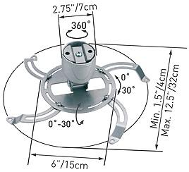 Кронштейн для проектора Barkan 90.S - схематическое изображение