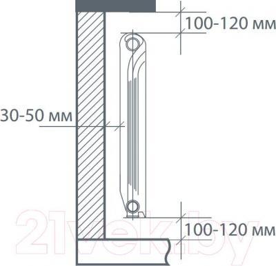 Радиатор алюминиевый Royal Thermo Revolution 500 (10 секций)