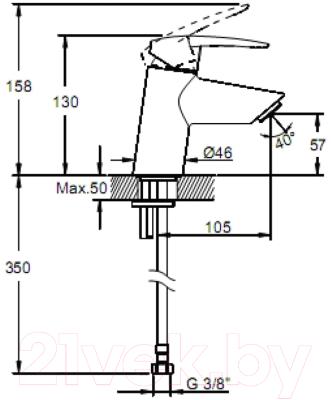Смеситель VitrA Dynamic S A40950EXP