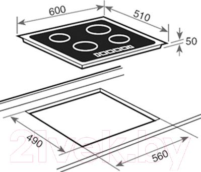 Индукционная варочная панель Teka IBR 6040
