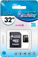 Карта памяти SmartBuy microSDHC (Class 10) 32GB + адаптер -