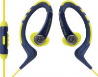 Наушники-гарнитура Audio-Technica ATH-SPORT1iS (желтый/синий) -