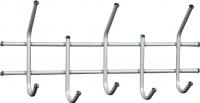 Вешалка для одежды Sheffilton Стандарт 2/5 В2-5-5 (серебро перлато/серый) -