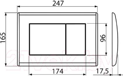 Кнопка для инсталляции Alcaplast M277 (антрацит)