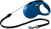 Поводок-рулетка Flexi New Classic 11812 (М, синий) -