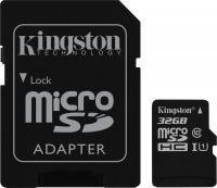 Карта памяти Kingston microSDHC UHS-I (Class 10) 32GB + адаптер (SDC10G2/32GB) -