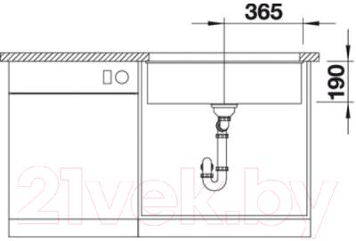 Мойка кухонная Blanco Subline 700-U / 515774
