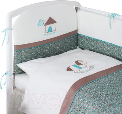 Комплект постельный в кроватку Perina Жила-была Лошадка ЖБ6-01.4