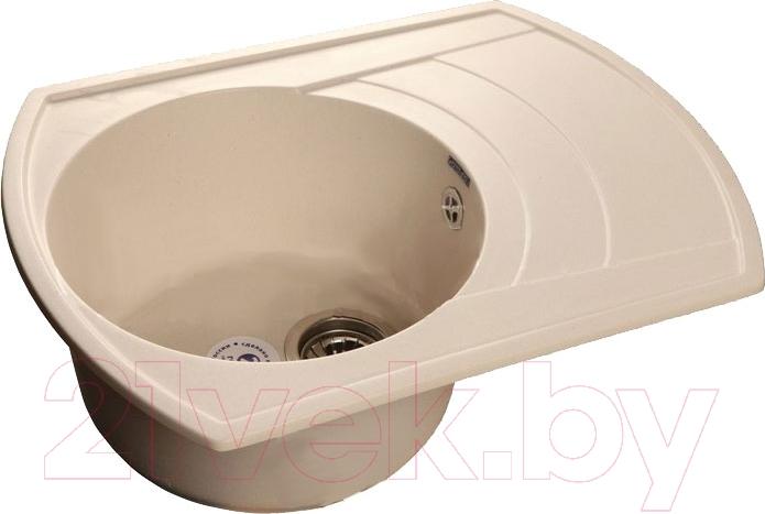 Купить Мойка кухонная GranFest, Rondo GF-R650L (белый), Россия