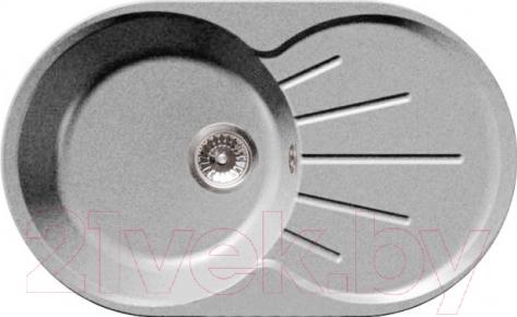 Купить Мойка кухонная GranFest, Rondo GF-R750L (серый), Россия, искусственный камень