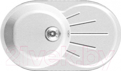 Купить Мойка кухонная GranFest, Rondo GF-R750L (белый), Россия, искусственный камень