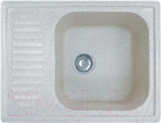 Купить Мойка кухонная GranFest, Standart GF-S645L (белый), Россия, искусственный камень