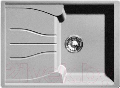 Купить Мойка кухонная GranFest, Standart GF-S680L (серый), Россия, искусственный камень