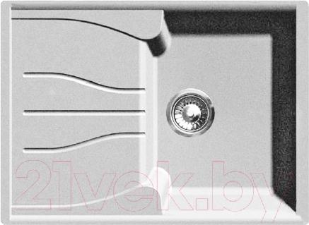 Купить Мойка кухонная GranFest, Standart GF-S680L (белый), Россия, искусственный камень