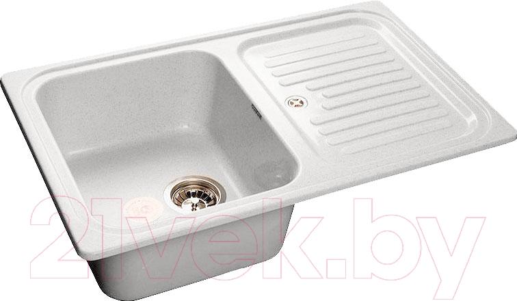 Купить Мойка кухонная GranFest, Standart GF-S780L (серый), Россия, искусственный мрамор