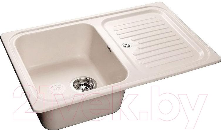Купить Мойка кухонная GranFest, Standart GF-S780L (белый), Россия, искусственный мрамор