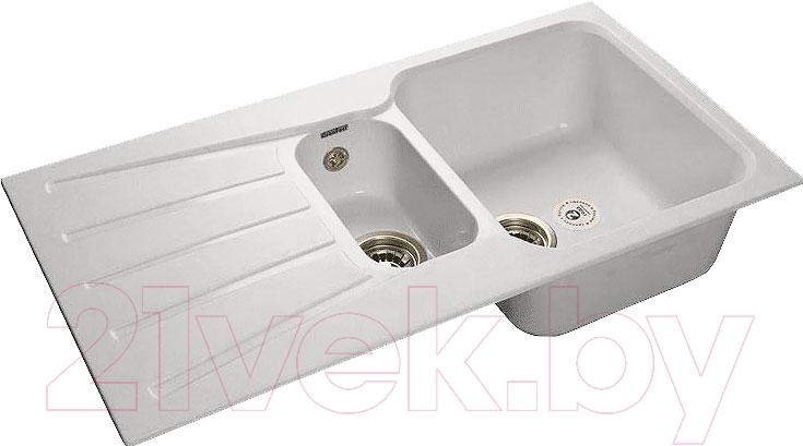 Купить Мойка кухонная GranFest, Standart GF-S940KL (серый), Россия, искусственный мрамор