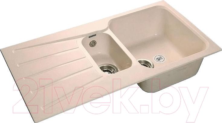 Купить Мойка кухонная GranFest, Standart GF-S940KL (белый), Россия, искусственный мрамор