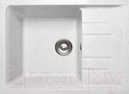 Купить Мойка кухонная GranFest, Quadro GF-Q650L (белый), Россия, искусственный мрамор