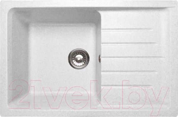 Купить Мойка кухонная GranFest, Practik GF-P760L (белый), Россия, искусственный мрамор