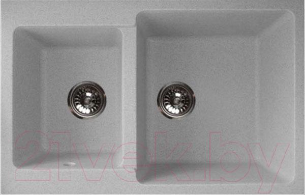 Купить Мойка кухонная GranFest, Practik GF-P780K (серый), Россия, искусственный мрамор