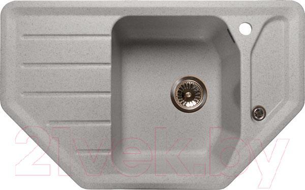 Купить Мойка кухонная GranFest, Corner GF-C800E (серый), Россия, искусственный мрамор