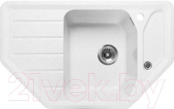 Купить Мойка кухонная GranFest, Corner GF-C800E (белый), Россия, искусственный мрамор