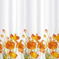 Шторка-занавеска для ванны Tatkraft French Poppies 14046 -
