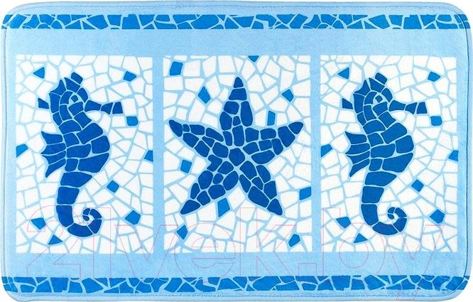 Купить Коврик для ванной Tatkraft, Marine Motifs 14916, Китай, микрофибра, Marine Motifs (Tatkraft)