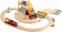 Железная дорога детская Brio Rail & Road Crane Set 33208 -