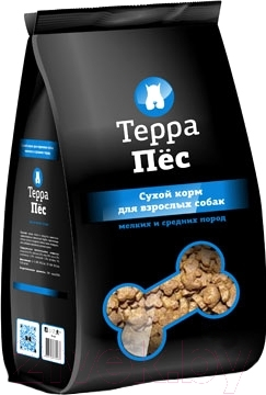 Корм для собак ТерраПес Для мелких и средних пород TRK016 (12 кг)