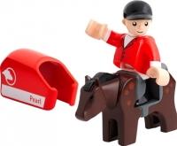 Элемент железной дороги Brio Лошадь с наездником 33793 -