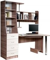Компьютерный стол Мебель-Класс Символ левый (ясень шимо св./ясень шимо темный) -