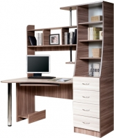 Компьютерный стол Мебель-Класс Символ правый (ясень шимо св./ясень шимо темный) -