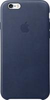 Чехол-накладка Apple Leather Case MKXU2 (темно-синий) -