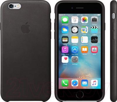 Чехол-накладка Apple Leather Case MKXW2 - пример использования