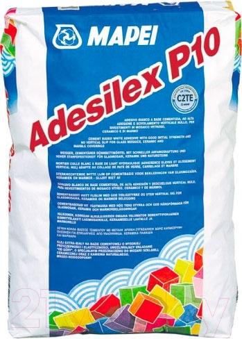 Купить Клей для плитки Mapei, Adesilex P10 (25кг, белый), Россия