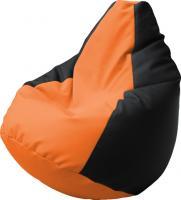 Бескаркасное кресло Flagman Груша Макси Г2.3-2016 (черный/оранжевый) -